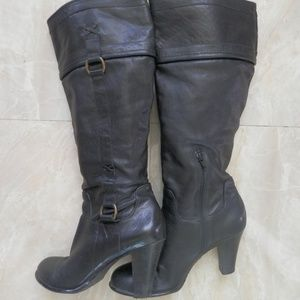 Arturo Chiang Knee High Leather Boots